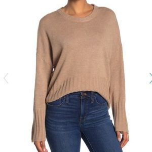 New Madewell Solid Dolman Sleeve Pullover Sweater